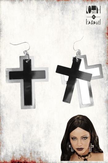 Oorbellen Cross