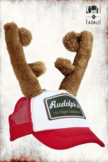 Rudolf pet met Gewei