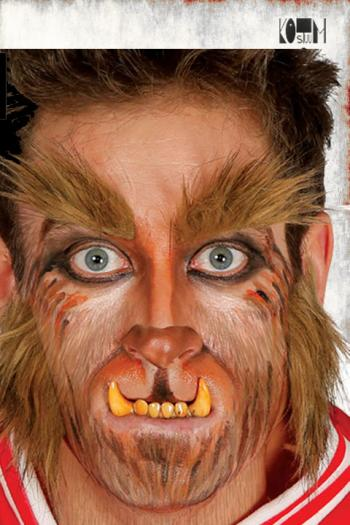weerwolf wenkbrauwen en bakkebaarden