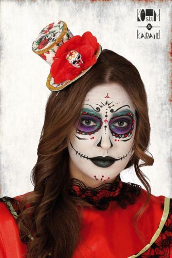 Mini Tophat Dia de los Muertos