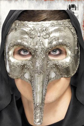 Zilver venetiaans masker