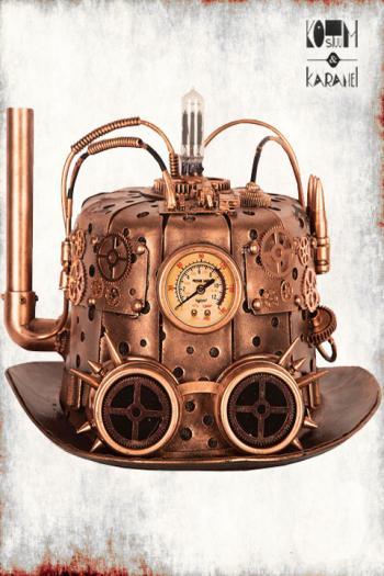 Tophat Steampunk Luxe met schoorsteen