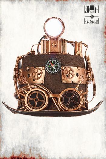 Steampunk Hoed Luxe met Lamp