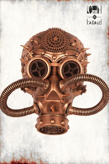 Gasmasker Steampunk Luxe