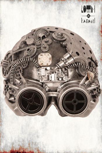Masker Steampunk Zilver Luxe