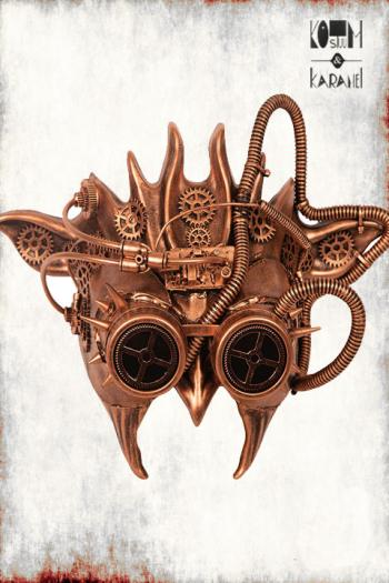 Masker Steampunk Duivel Luxe