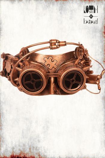 Oogmasker Steampunk Koperkleur