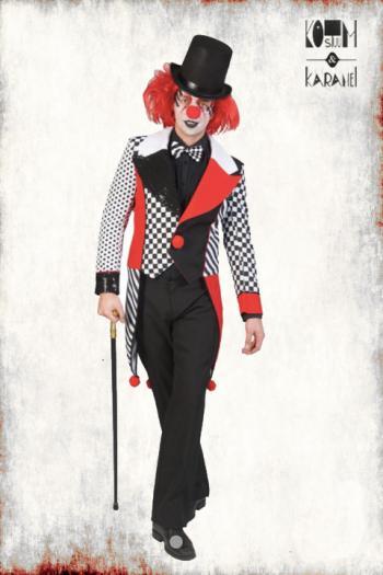 Jasje Freaky Clown Zwart Rood Wit