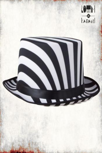 Hoge Hoed Circus Wit Zwart