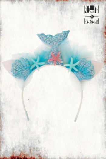 Diadeem Mermaid Blauw