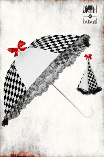 Paraplu Circus Zwart Wit