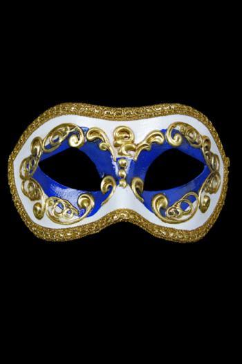 Venetiaans Oogmasker Man Donkerblauw Europa