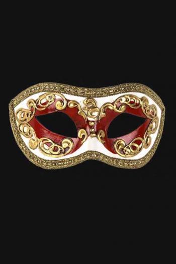 Venetiaans Oogmasker Man Rood Europa