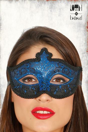 venetiaans oogmasker dames blauw zwart