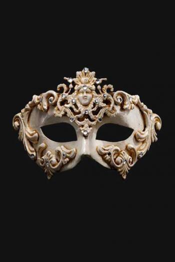 Venetiaans Masker Heren Wit Hepaiston