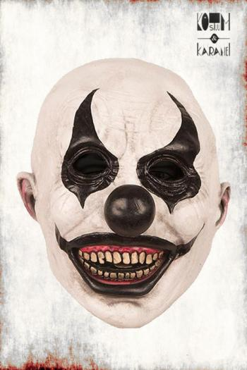 Masker clown Black Eyes Latex