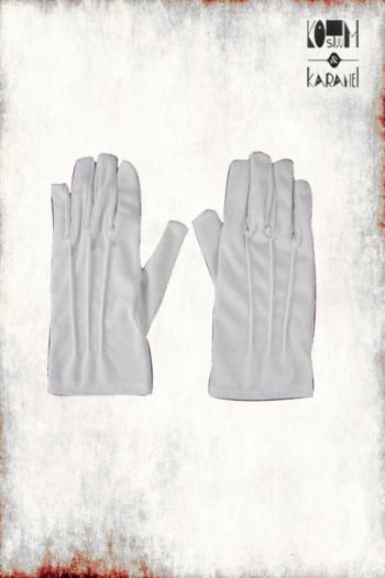 Handschoenen kort wit sint
