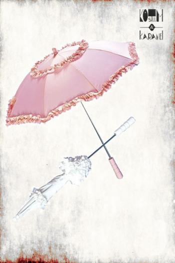 Paraplu Roze WIt Parasol