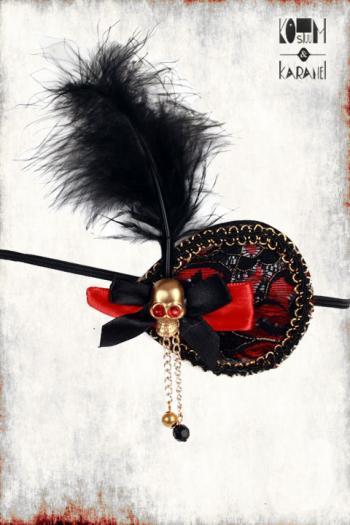 Ooglapje Piraat Dame Skull