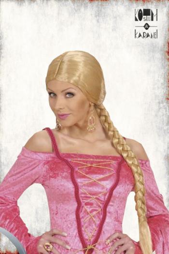 Pruik Dames met lange blonde vlecht