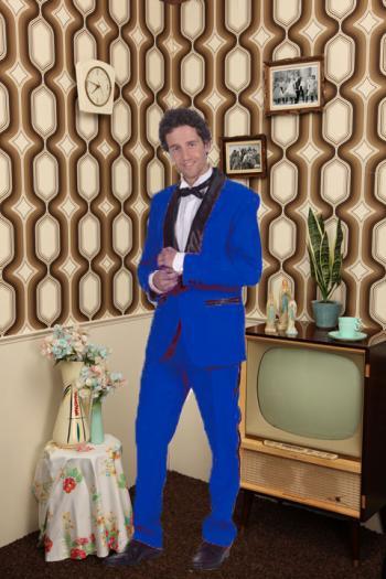 Blue suit 50's