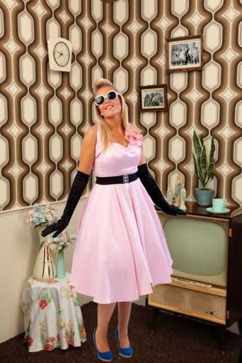 Halter jurk, Debra