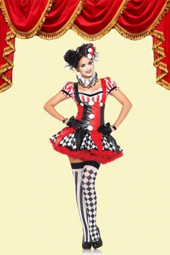 Clown'tje rood/zwart