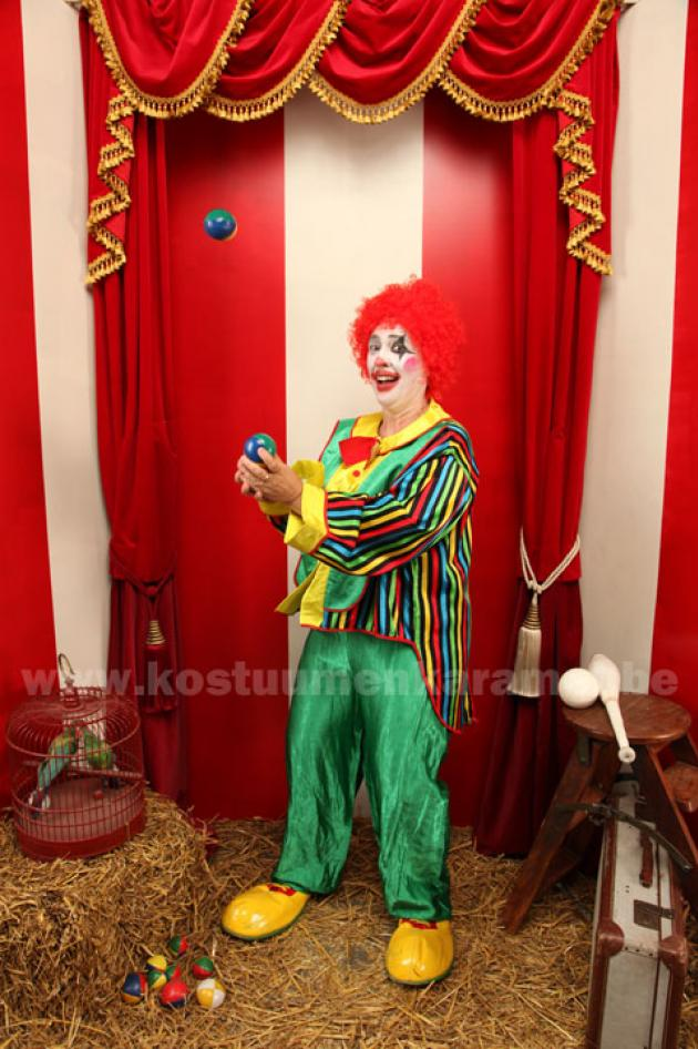 Clown met Streepjes