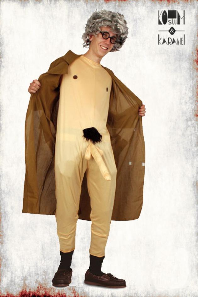 Kostuum Streaker met Pruik