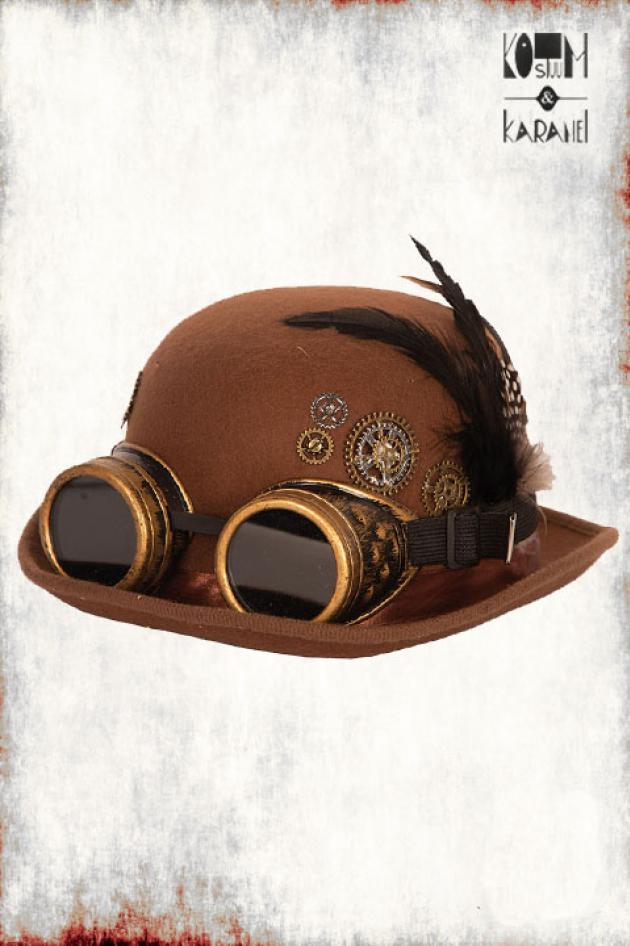 Bolhoed Steampunk Bruin Luxe