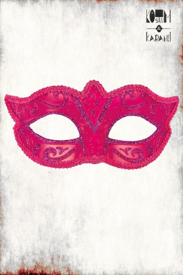 Venetiaans Masker Dames Roze Glitter