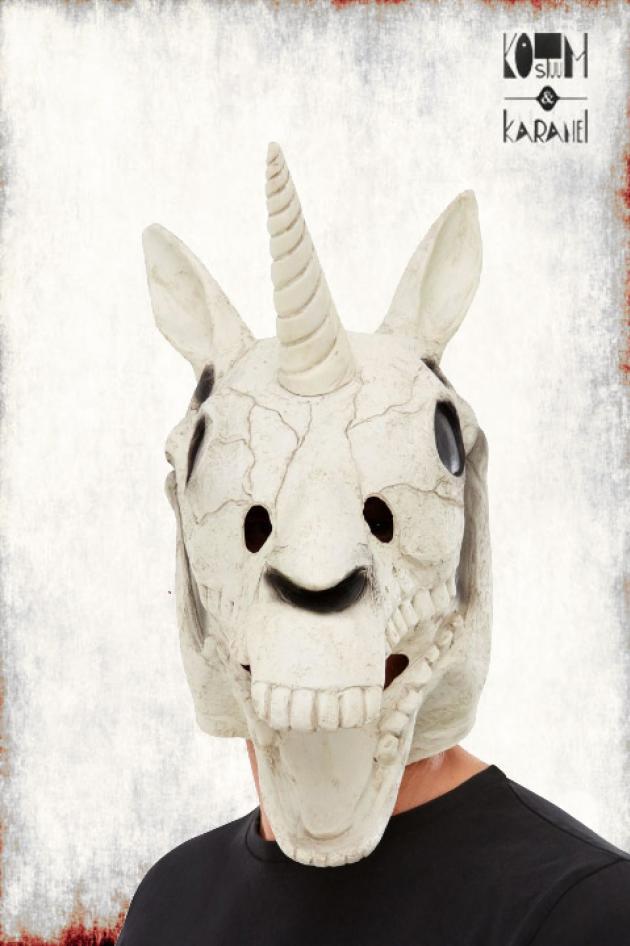 Eenhoorn Skelet Masker Latex
