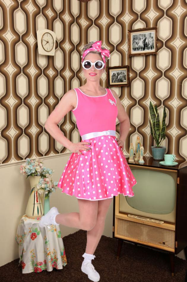 50's kleedje Pink