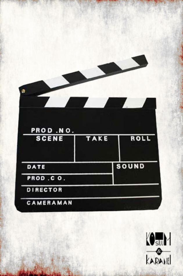 Filmbord Hollywood Klapper