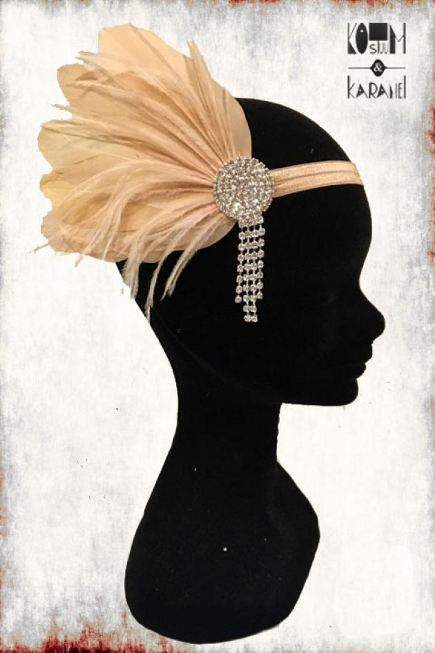 Haarband twenties Beige Luxe