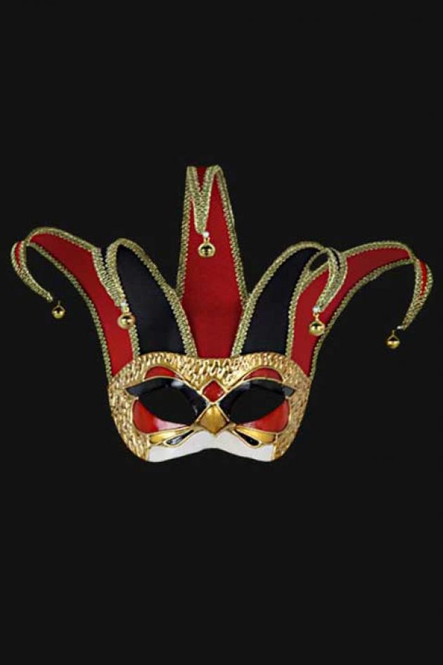 Venetiaans Masker Nar Rood Pan