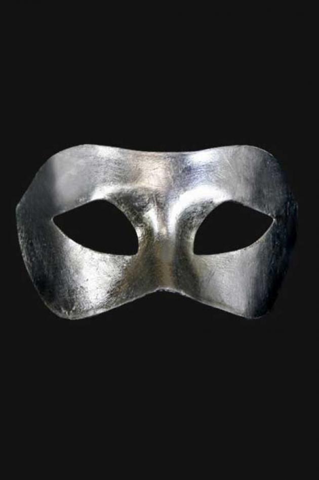 Venetiaans Oogmasker Heren Zilver Boreas