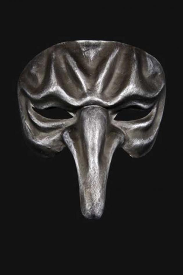 Venetiaans Neusmasker Man Zilver Chloris