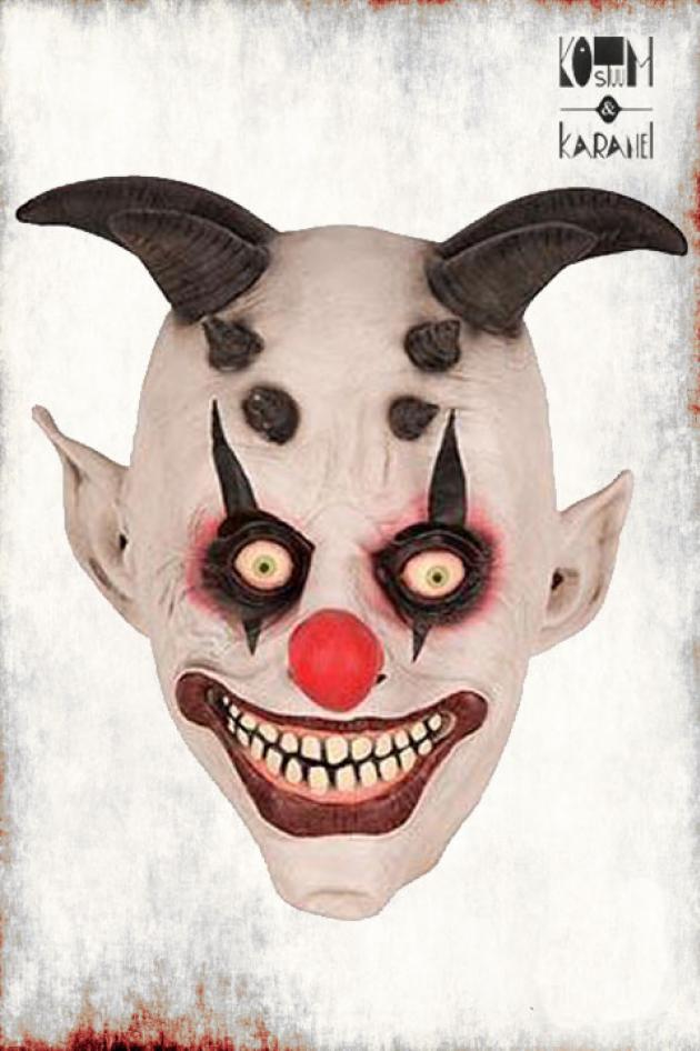 Masker Clown met Hoorns Latex