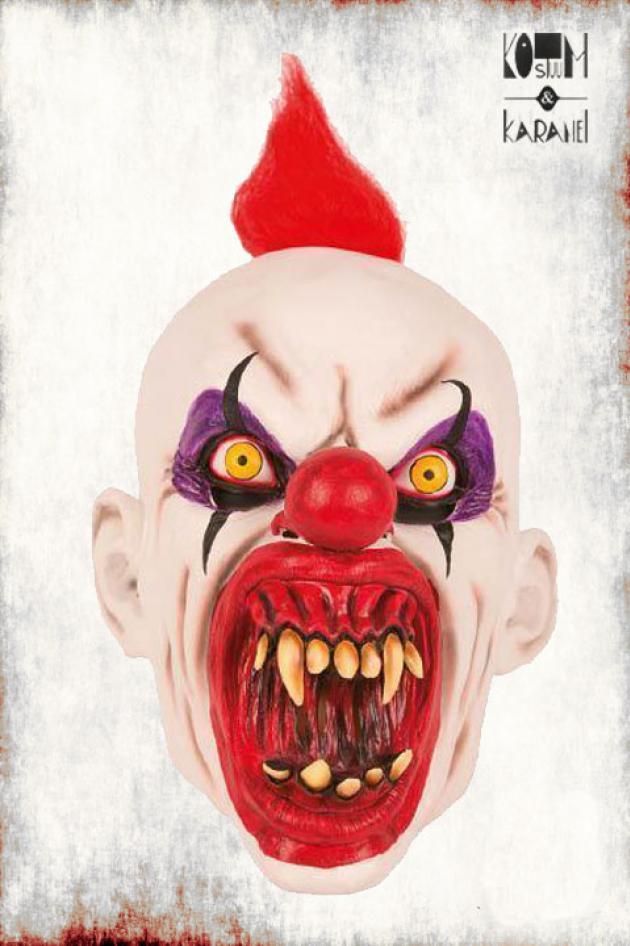 Latexmasker Clown met grote tanden