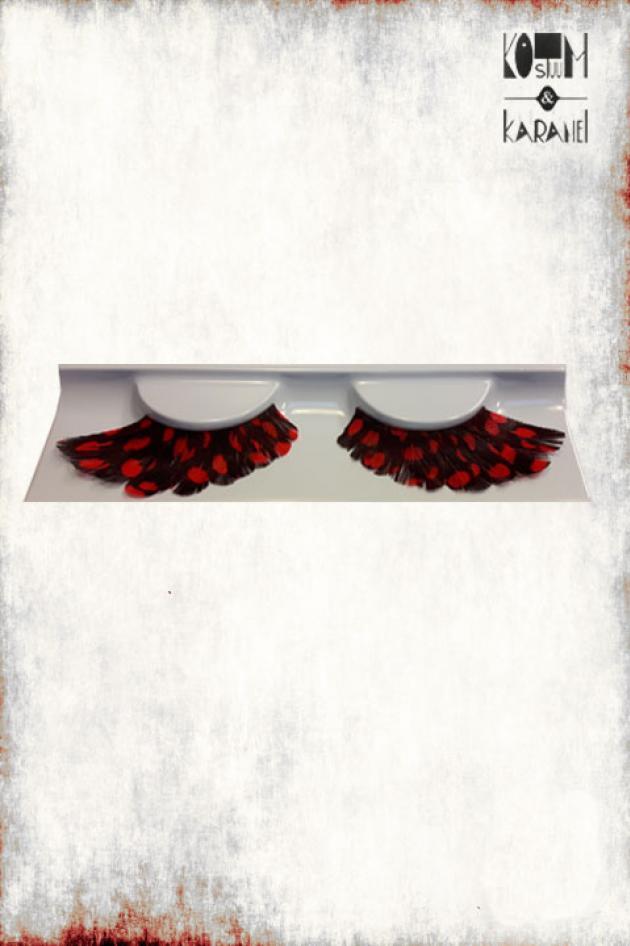 Plakwimpers zwart met rode bollen