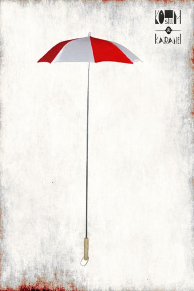 Paraplu Clown Wit Rood