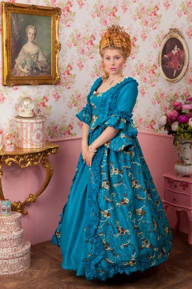 Venetiaans Kleed Blauw
