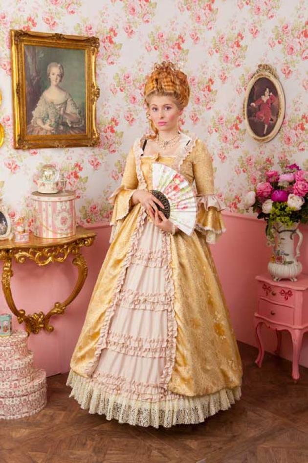 Rococo Jurk Brocaat