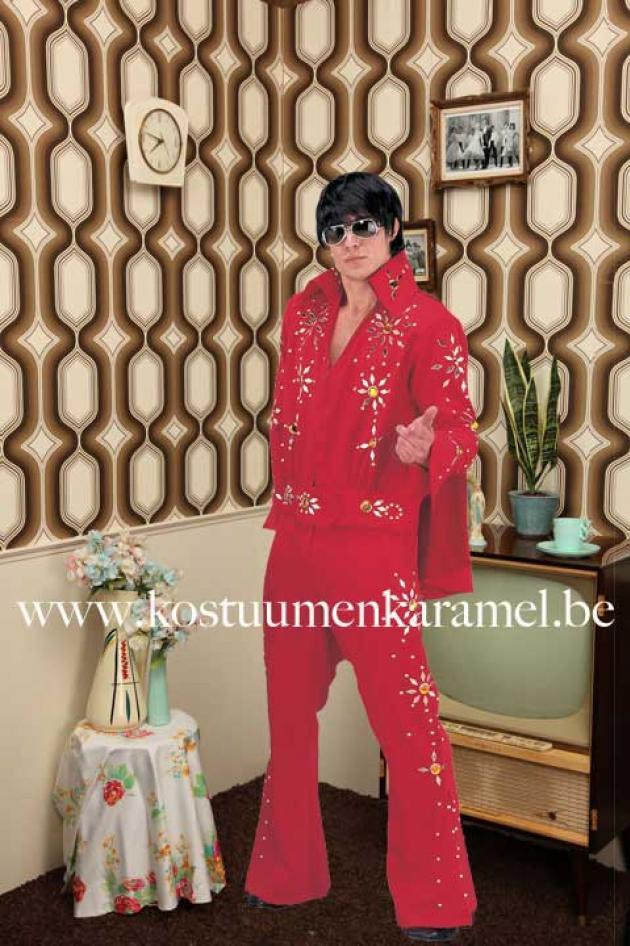 Elvis Kostuum Rood
