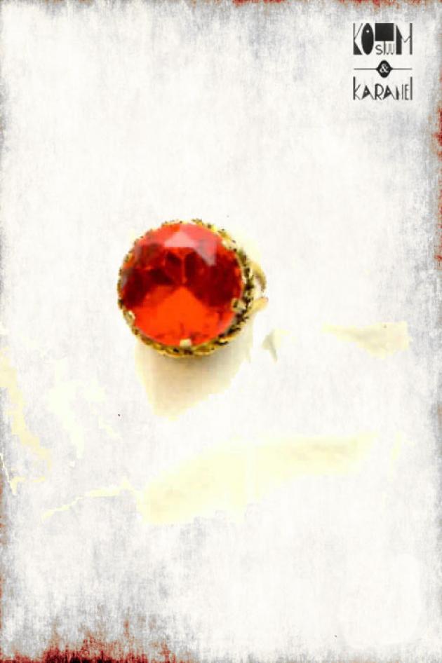 Ring Sinterklaas Rode Steen Luxe