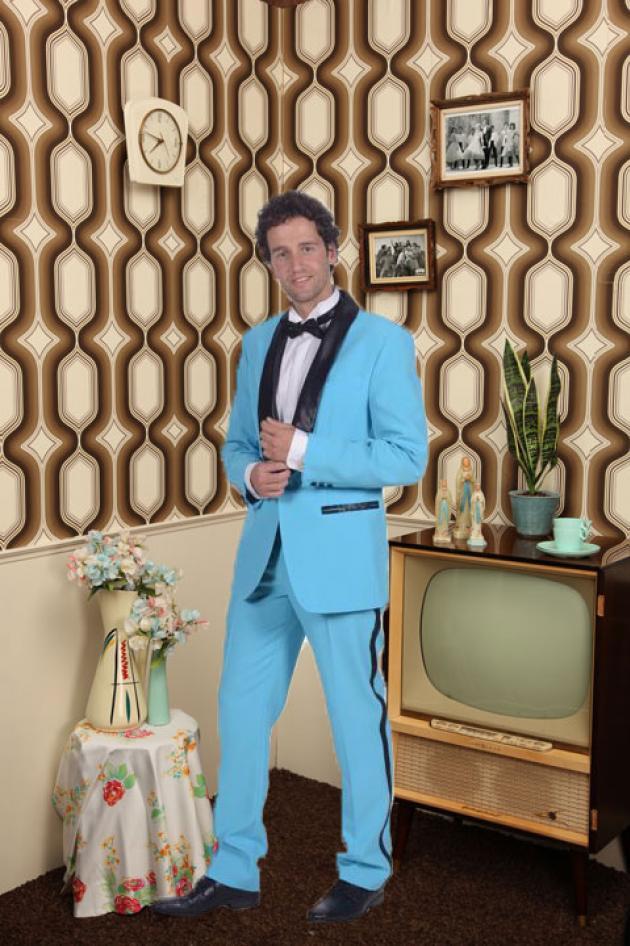 BabyBlue suit 50's